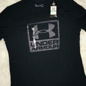 Under Armour Black Men's short sleeve shirt sz LG